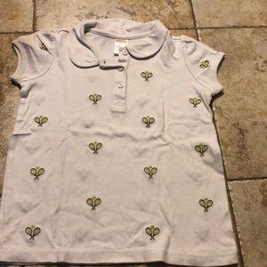 Gymboree Girls size 8 tennis theme shirt